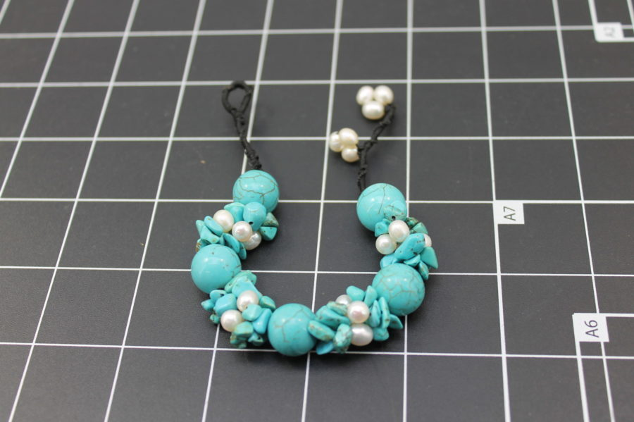 Nifty turquoise and pearl Bracelet Freshwater Pearls Adjustable Size Fits up to 9 Inch 1
