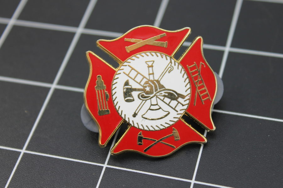 LARGE Brand-New Fireman / Firefighter Enameled Lapel Pin Lifetime Guarantee 1