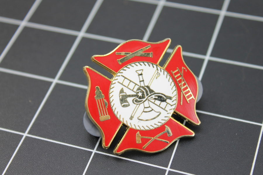 LARGE Brand-New Fireman / Firefighter Enameled Lapel Pin Lifetime Guarantee 2