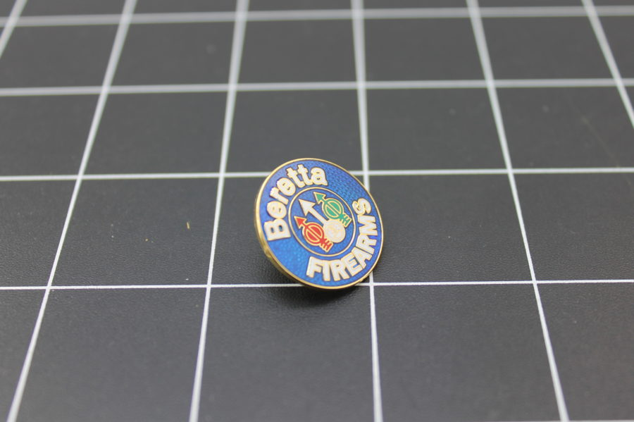 "Brand New Lapel Pin ""BERETTA"" LIFETIME GUARANTEE ENAMELED 2"