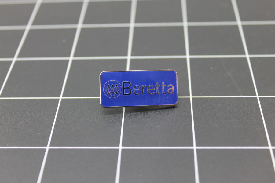 "Brand New Lapel Pin ""BERETTA"" LIFETIME GUARANTEE ENAMELED 1"