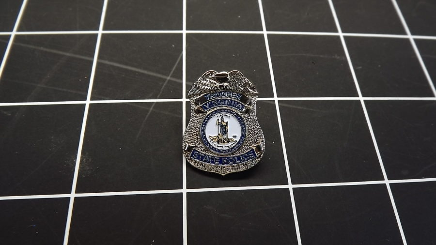 BRAND NEW VIRGINIA STATE TROOPER BADGE LAPEL / HAT PIN 1