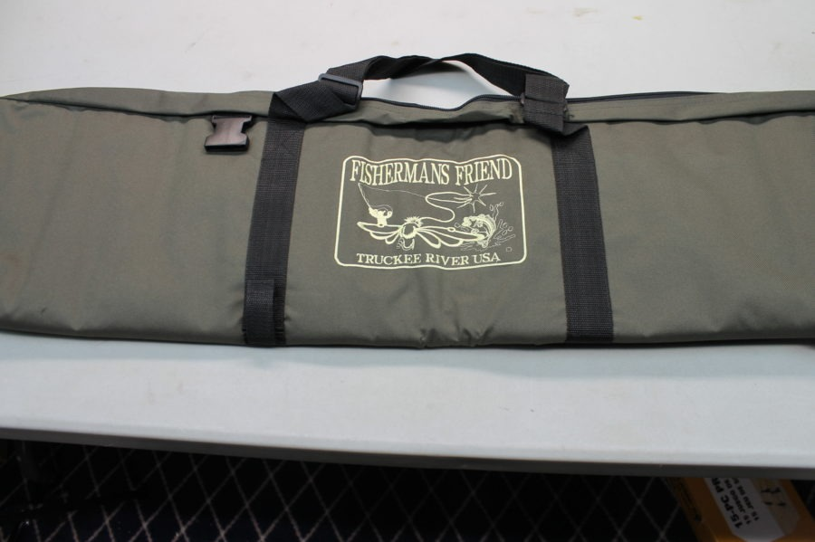 New Fisherman's Friend Fishing Back Pack Tackle Box Pole Holder/case 6