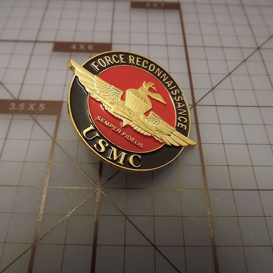 "BRAND NEW Lapel Pin ""USMC Force Reconnaissance "" ENAMELED LIFETIME GUARANTEE 3"