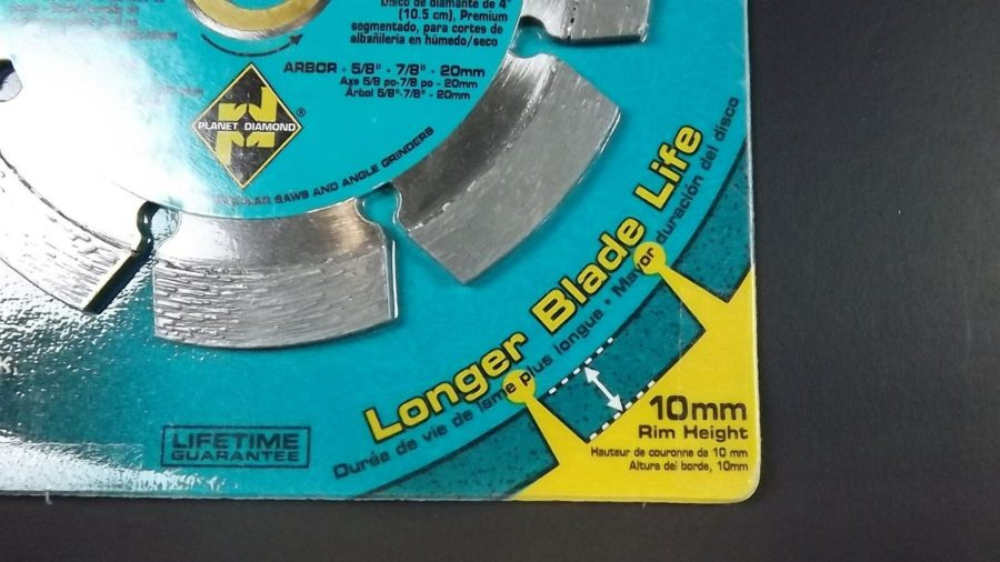 "4"" Planet Diamond Segmented Masonry Blade 250X 10mm rim NEW 4-inch 5"