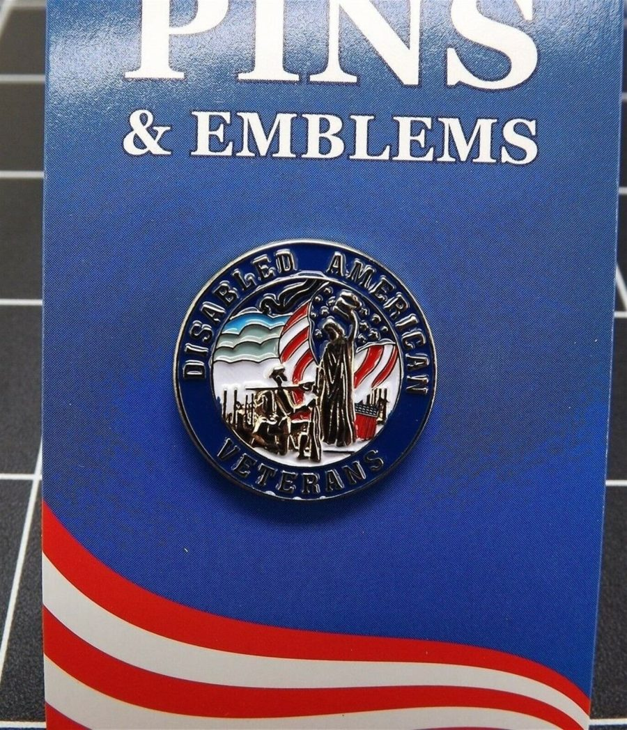 "BRAND NEW Lapel Pin Disabled American Veterans Red White Blue Enamel 1"" 1"