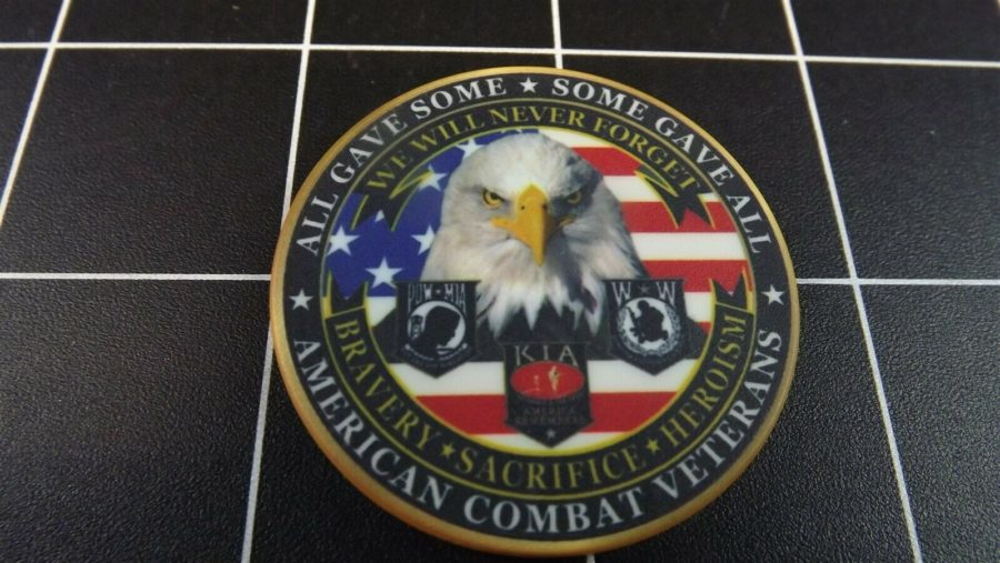 "CHALLENGE COIN, BRAND NEW DESIGN ""COMBAT VETERANS"" PATRIOTIC PURPLE HEART 4"