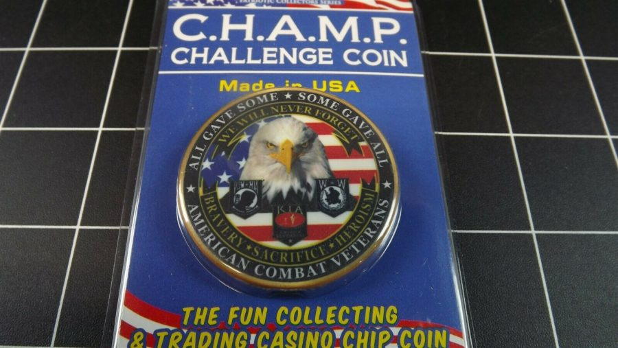 "CHALLENGE COIN, BRAND NEW DESIGN ""COMBAT VETERANS"" PATRIOTIC PURPLE HEART 1"