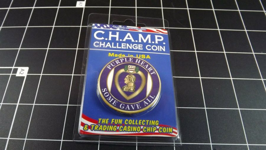 "CHALLENGE COIN, BRAND NEW DESIGN ""PURPLE HEART"" SOME GAVE ALL 2"