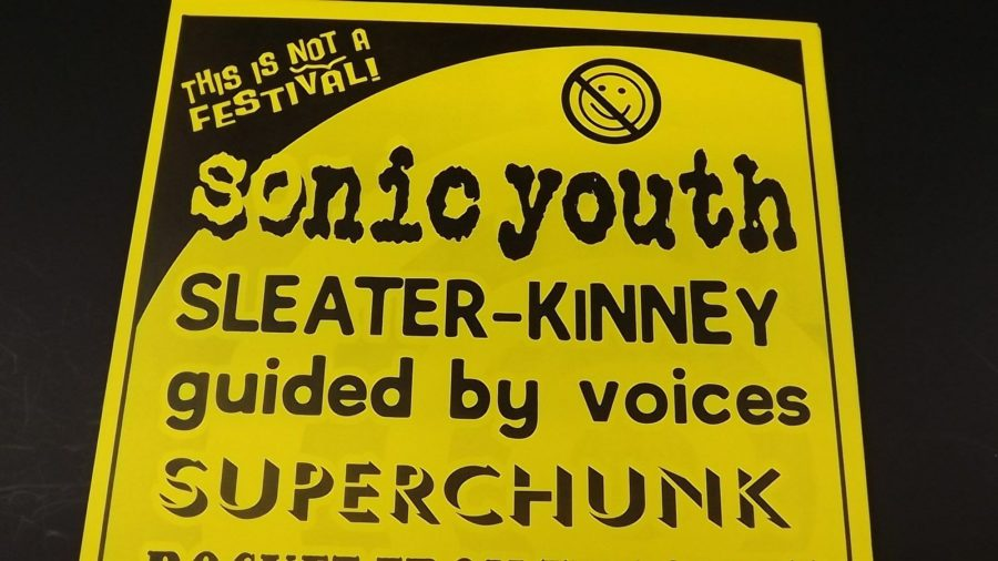 Genuine 1999 SONIC YOUTH W/ SUPER CHUNK Music Concert Poster Flyer Ad 3