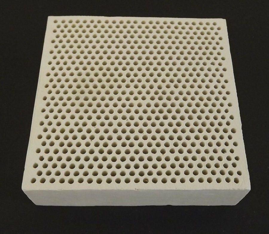 "New Alumina Ceramic Soldering Plate With Holes Jeweler Welding Tool 3"" X 3"" 1"