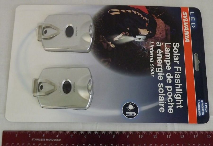 Sylvania LED Solar Powered Flashlight 2-Pack New in Package 3