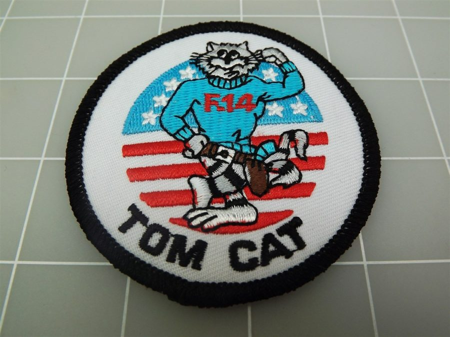 "BRAND NEW U.S. NAVY USN TOMCAT F-14 Red White Blue Patch 3 1/2"" 1"