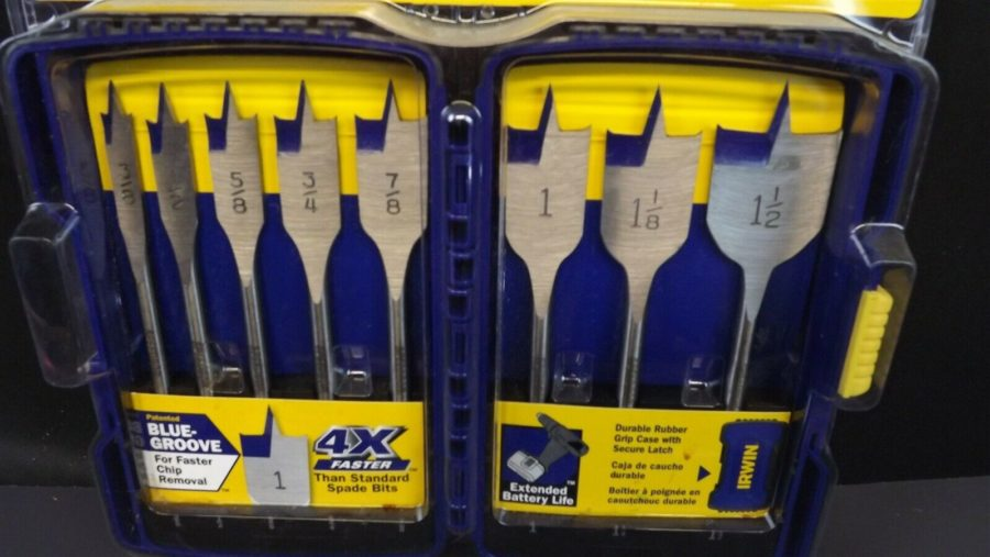 IRWIN Tools SPEEDBOR Blue Groove Pro Spade Bit Set with Case, 8-Piece (341008) 3