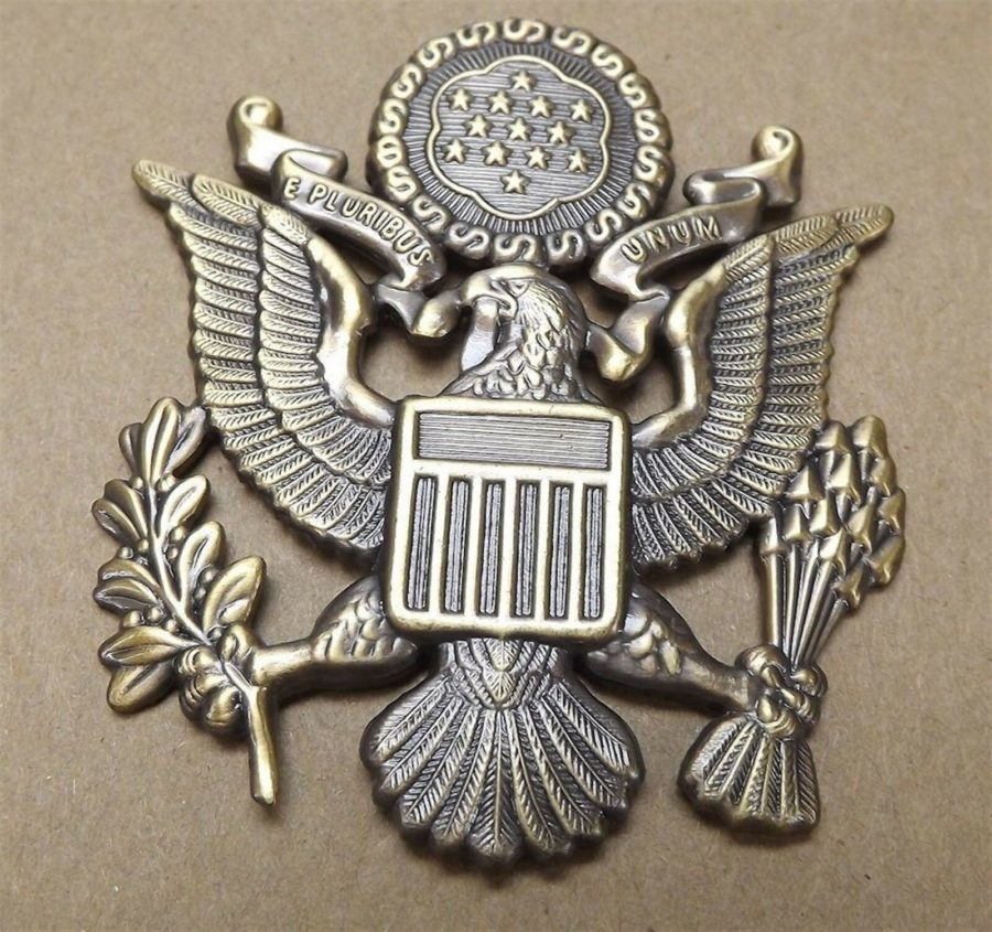 "Lapel pin NEW Badge US Army Officer 2-1/2"" Antique Style 1"