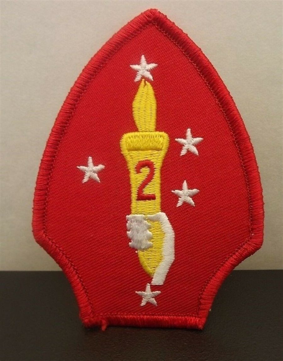 MARINE CORPS 2ND DIVISION USMC PATCH LOGO SEMPER FI BRAND NEW IRON-ON 1