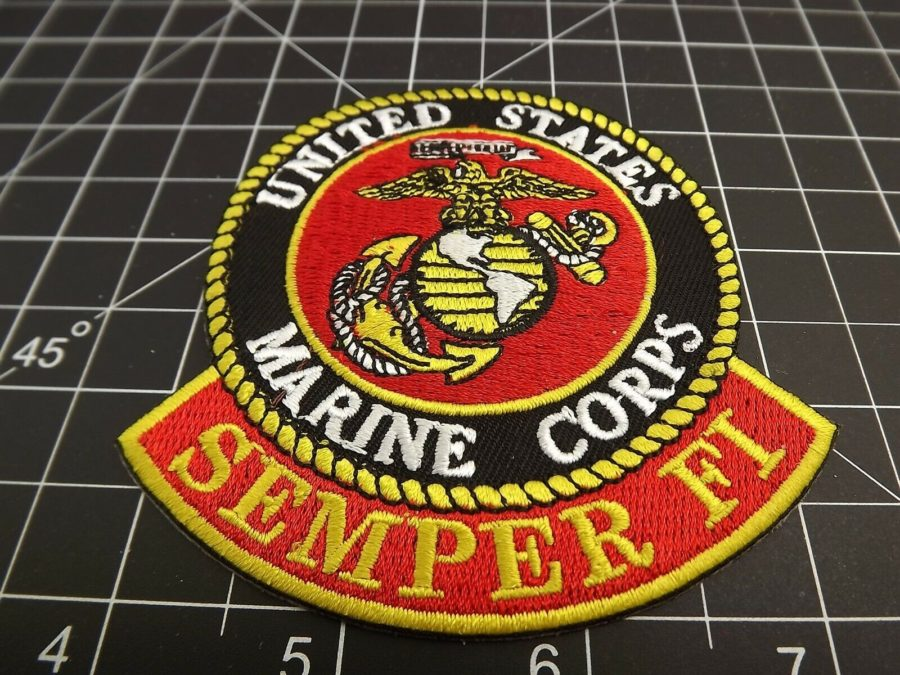 "MARINE CORPS USMC PATCH LOGO SEMPER FI BRAND NEW 3"" IRON-ON ""NEW DESIGN"" 1"