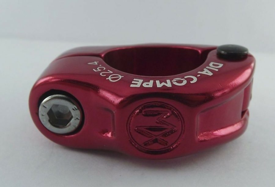 "New Dia-Compe MX Hinged Old School BMX Seat Clamp 1"" ( 25.4mm ) Red Anodized 1"
