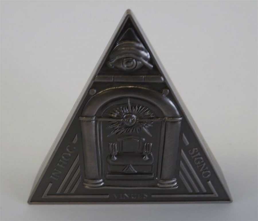 New Masonic Mason Triangle Table Clock Office Desk Clock Paperweight Freemasons 4