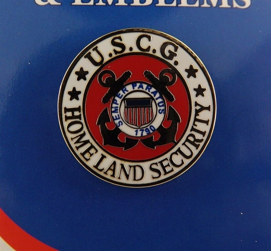 "BRAND NEW Lapel Pin United States Coast Guard Homeland Security Enamel 1"" 1"