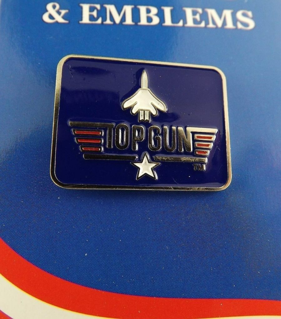 "BRAND NEW Lapel Pin United States Navy TOP GUN Red White Blue Enamel 5/8"" 1"
