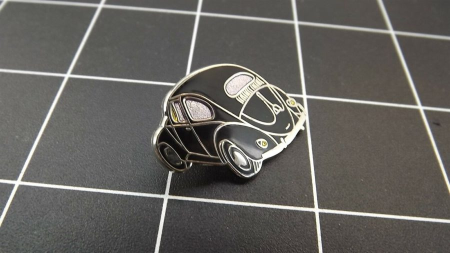 "BRAND NEW Lapel Pin VW VOLKSWAGEN ""BLACK BUG"" ENAMELED LIFETIME GUARANTEE 3"