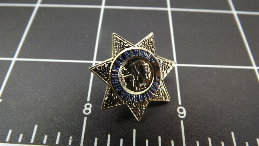 """CALIFORNIA HIGHWAY PATROL"" MINI-BADGE Enamel Lapel Pin BRAND NEW 2"