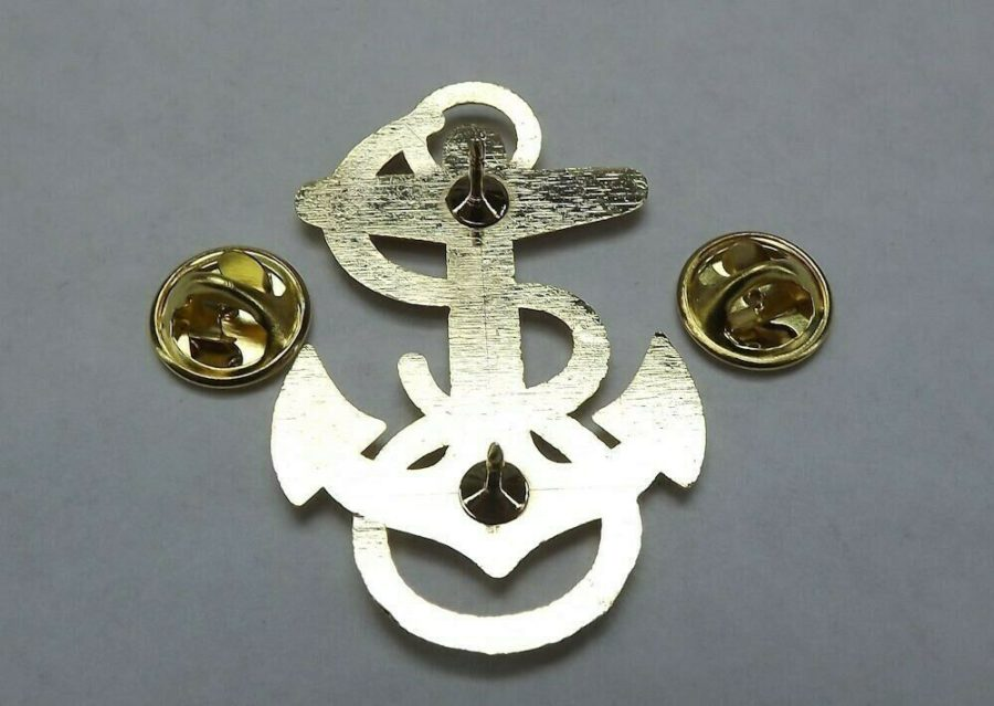 "Lapel pin NEW Badge USN Navy Midshipman 1-7/8"" Gold Plated Brass 4"