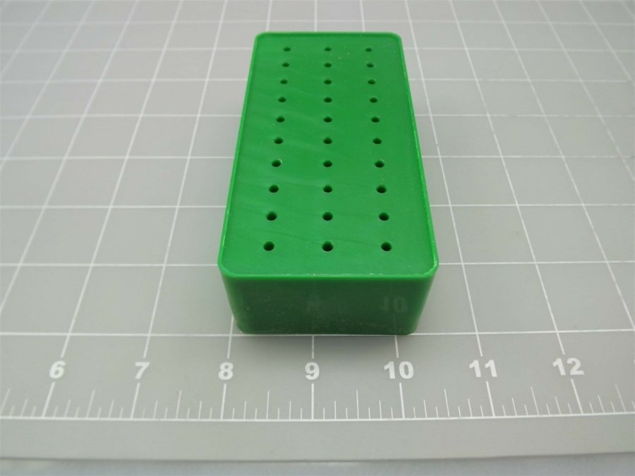 "New Jeweler Hobby Tool Square Burr Holder 30 Slot Bur Organizer 3/32"" Shank 4"