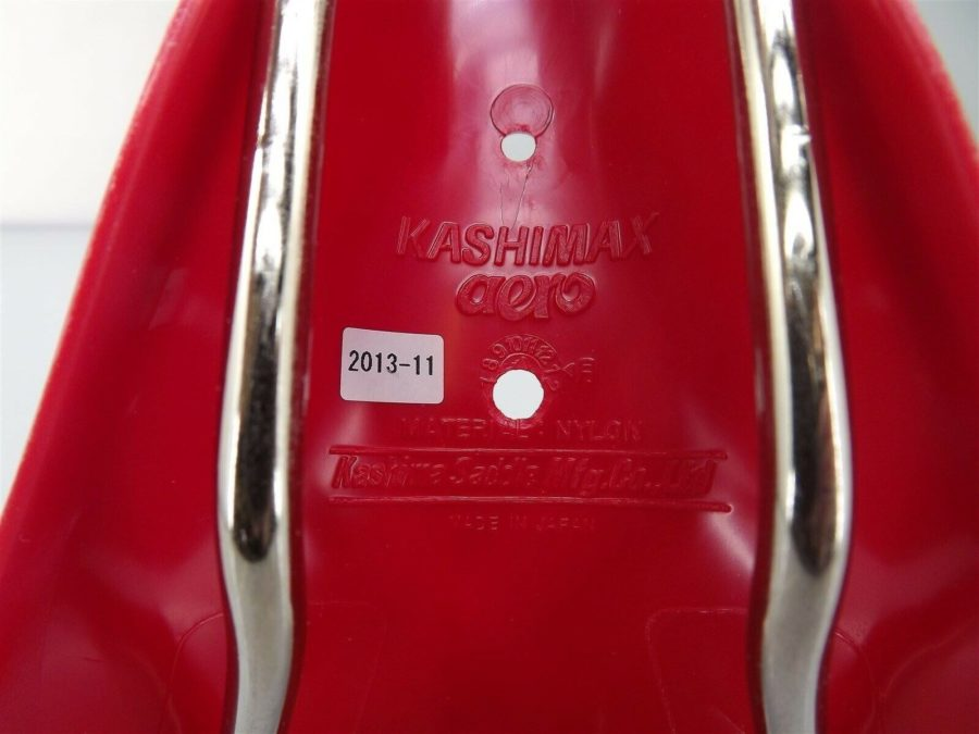 New Kashimax AMXC Aero Plastic BMX Seat Old School AMXC RED 5