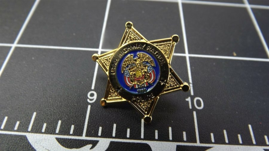 """UTAH HIGHWAY PATROL"" MINI-BADGE Enamel Lapel Pin BRAND NEW 1"