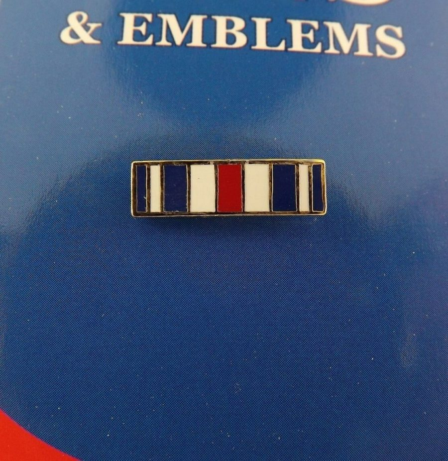 "BRAND NEW Lapel Pin Ribbon Silver Star Medal Red White Blue Enamel 11/16"" 1"