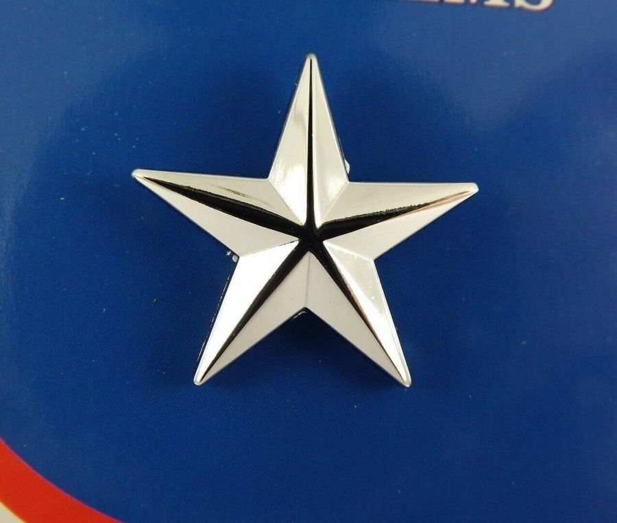 "BRAND NEW Lapel Pin U.S. ARMY General STAR C1 Silver Tone 1"" 2"