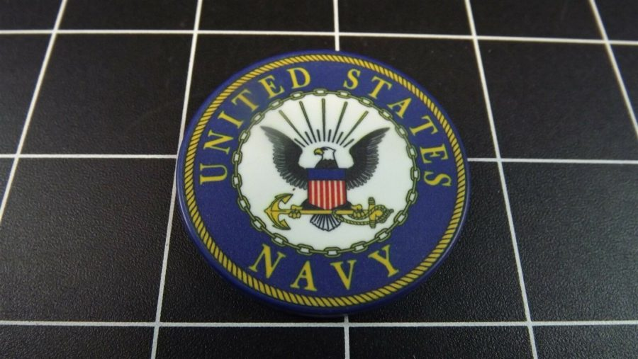 "CHALLENGE COIN HOLDER KEY RING KEY CHAIN ""UNITED STATES NAVY"" USN 4"