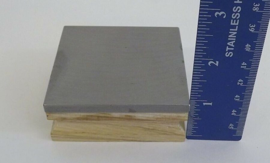 New Steel Bench Block With Wood Base Jeweler Tool Goldsmith Silversmith 4