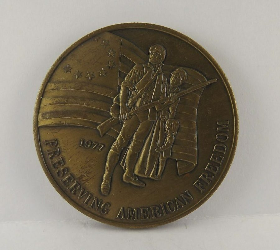 Old Bronze Coin 1977 Preserving American Freedom Veterans 1