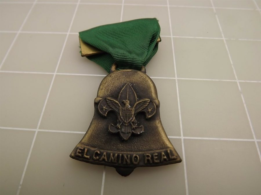 BOY SCOUT EL CAMINO REAL TRAIL MEDAL SAN DIEGO COUNTY COUNCIL CALIF 1