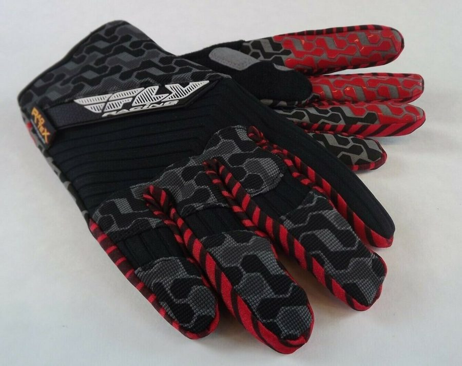 New FLY SWITCH GLOVE BLACK/GRAY BMX Mountain Bike DJ Gloves Size 7 (Adult XS) 2