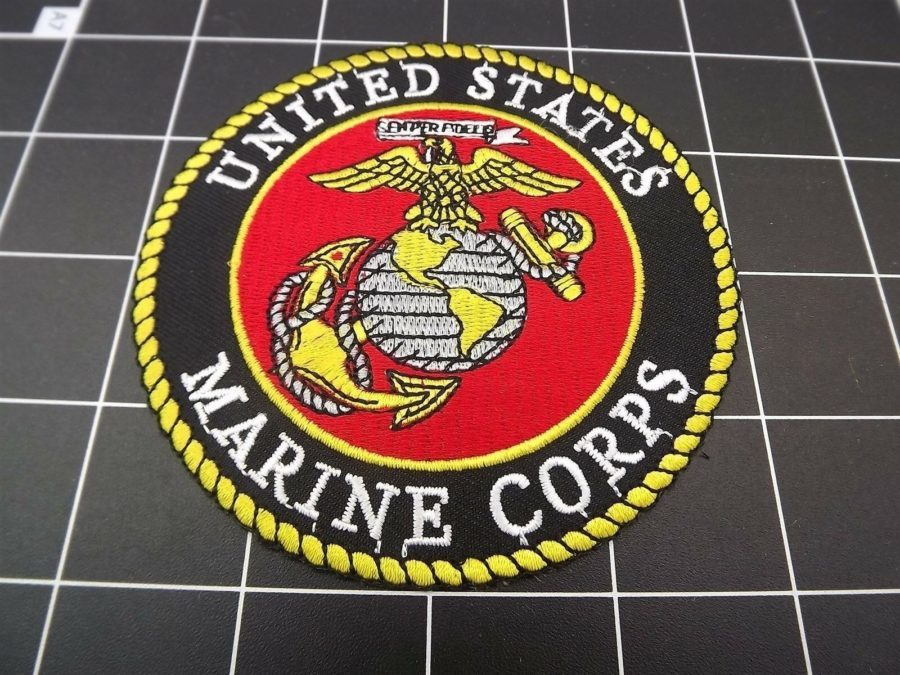 "U.S. Marine Corps ""EGA"" PATCH BRAND NEW IRON-ON USMC APPROVED 4"" 1"