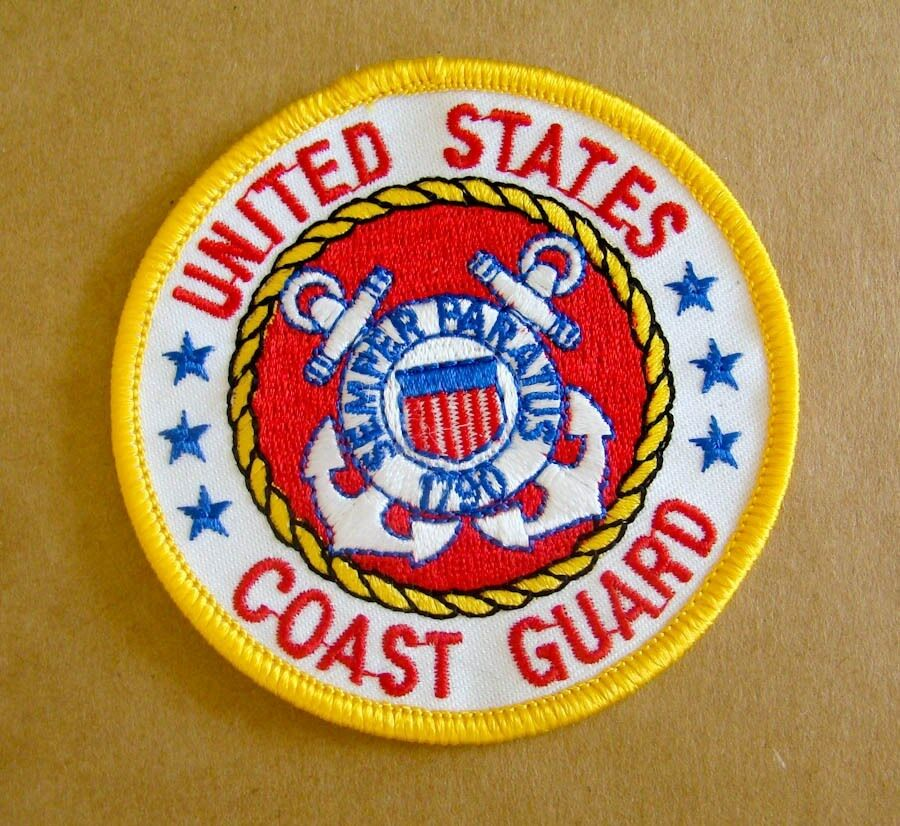 United States Coast Guard Iron On Patch 1