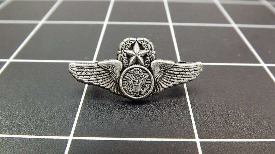 "BRAND NEW Lapel Pin ""USAF Aircrew Master Wing"" PEWTER LIFETIME GUARANTEE 1"