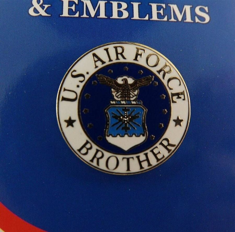 BRAND NEW Lapel Pin United States Air Force Brother Enamel 2