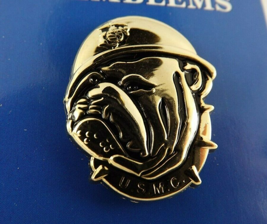 "BRAND NEW Lapel Pin United States Marine Corps Bull Dog Emblem 1"" 1"