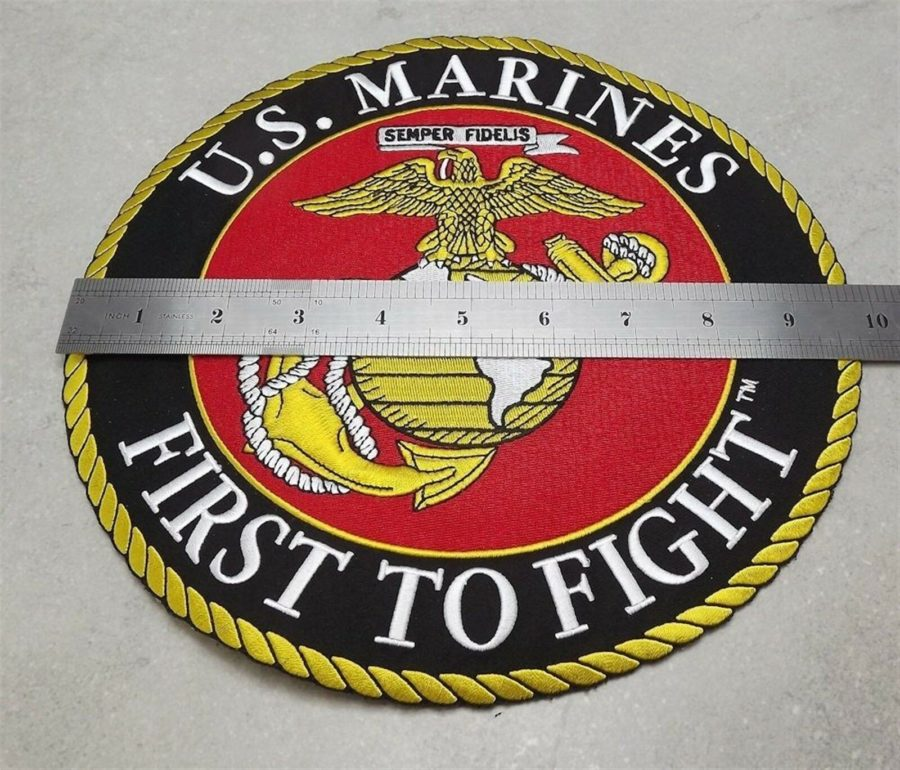 MARINE CORPS USMC PATCH LARGE LOGO SEMPER FI XLG NEW 10 INCH FIRST TO FIGHT 3