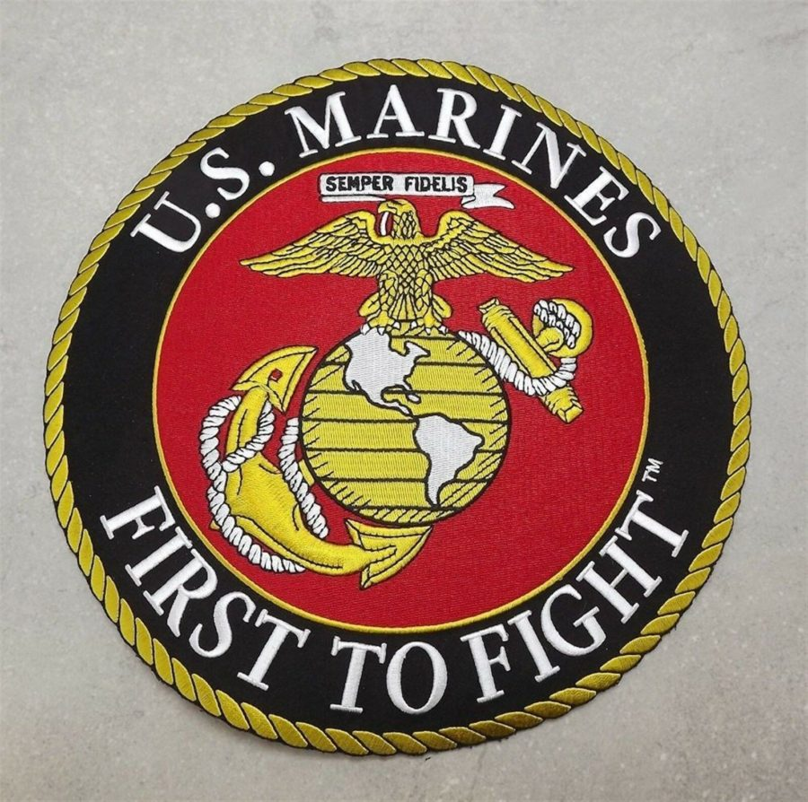 MARINE CORPS USMC PATCH LARGE LOGO SEMPER FI XLG NEW 10 INCH FIRST TO FIGHT 1