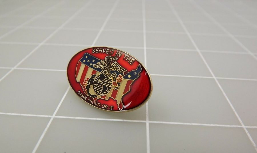 QUALITY MADE LAPEL HAT PIN ENAMEL SERVED IN THE MARINE CORPS USMC 1