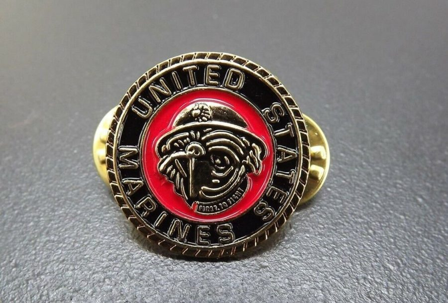 USMC MARINE CORPS BULLDOG LAPEL / HAT PIN BRAND NEW ENAMELED 1
