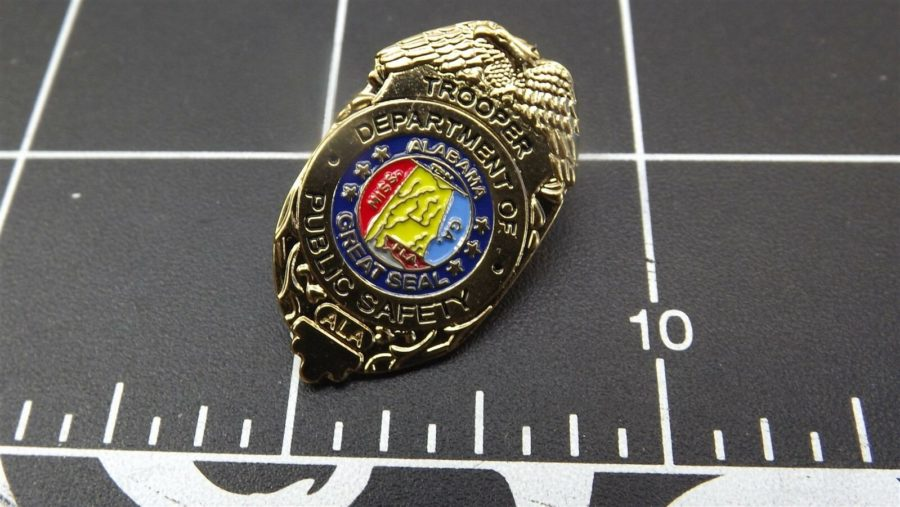 """ALABAMA STATE TROOPER"" MINI-BADGE Enamel Lapel Pin BRAND NEW 3"