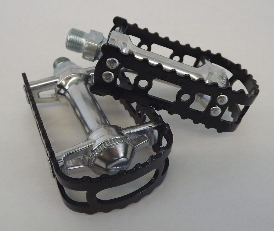"Brand New MKS BM-7 BMX 9/16"" Pedals Black Old School Bmx KKT 1"