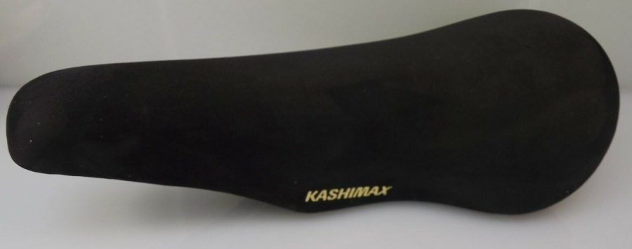 BRAND NEW Genuine Kashimax Seat BLACK SUEDE Old School BMX KX4A PADDED SADDLE 1